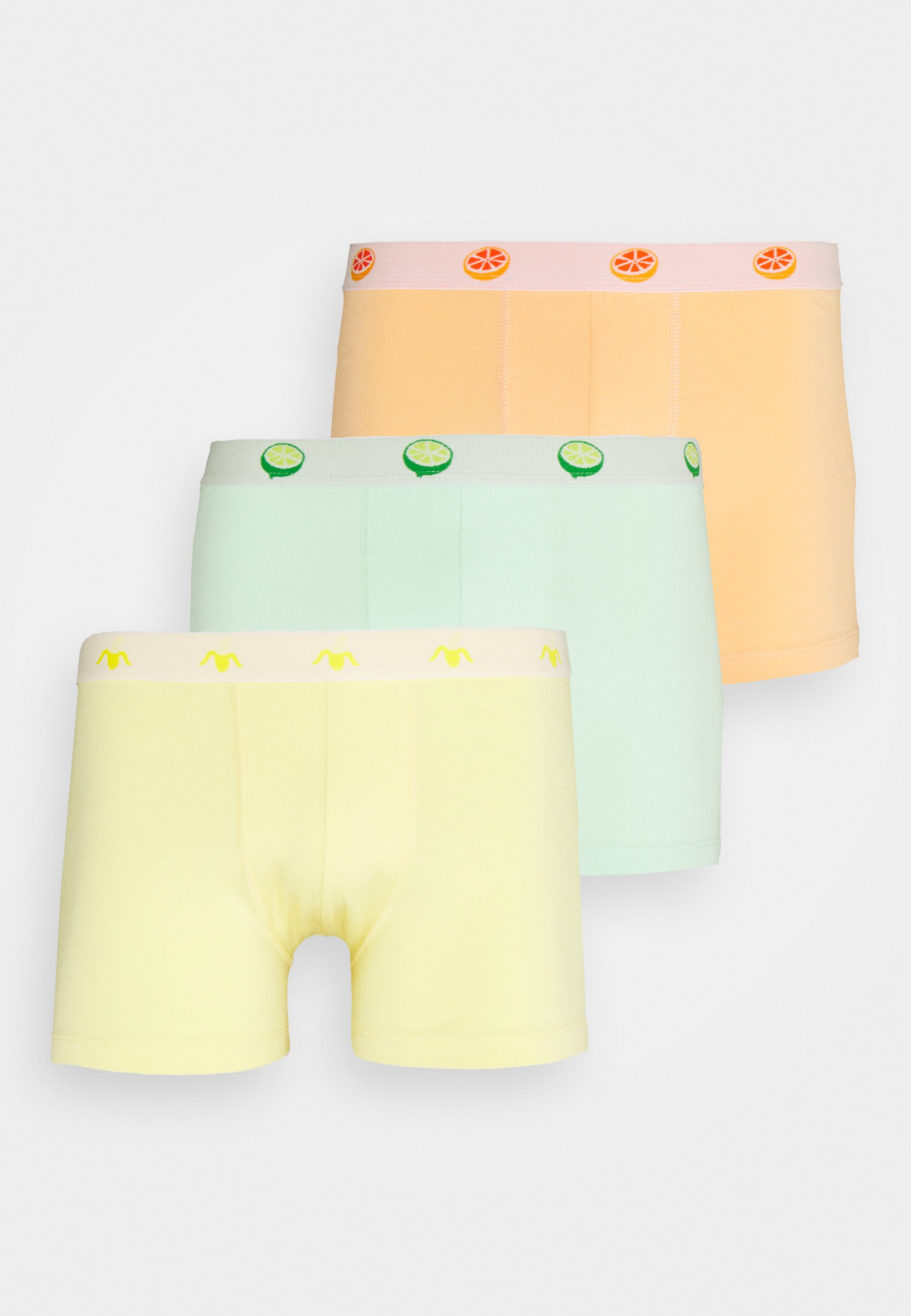 Men 3 PACK - Pants - green/yellow/orange