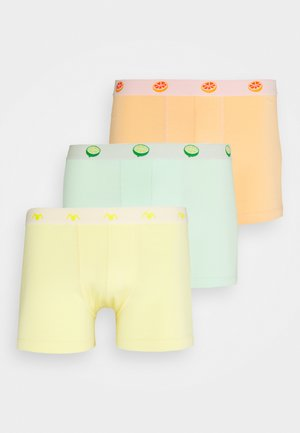 3 PACK - Boxerky - green/yellow/orange