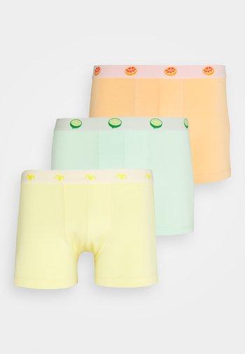 3 PACK - Boxerky - green/yellow/orange