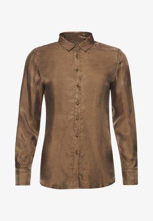 Button-down blouse - moss khaki