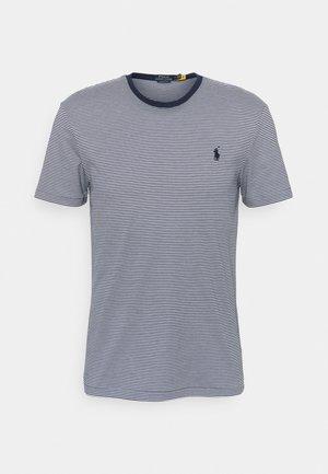 SHORT SLEEVE - Print T-shirt - french navy/white