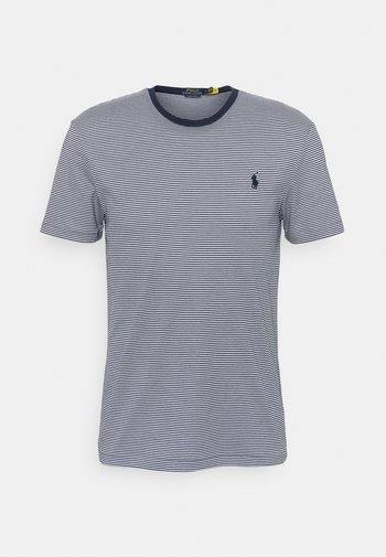 CUSTOM SLIM FIT SOFT COTTON T-SHIRT - T-shirts med print - french navy/white