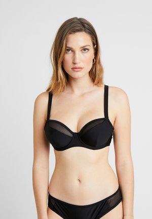 SHEER CLASS BALCONY  - Bikini top - black