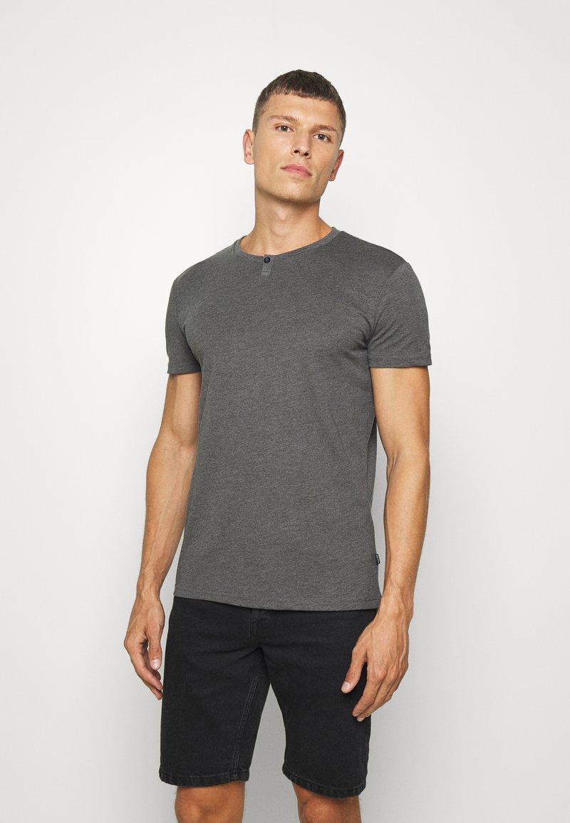 Pier One - Basic T-shirt - mottled dark grey
