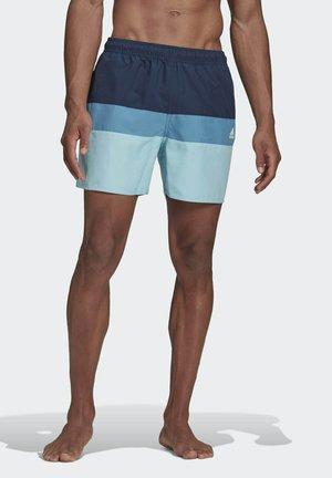 SHORT-LENGTH COLORBLOCK SWIM SHORTS - Swimming shorts - blue