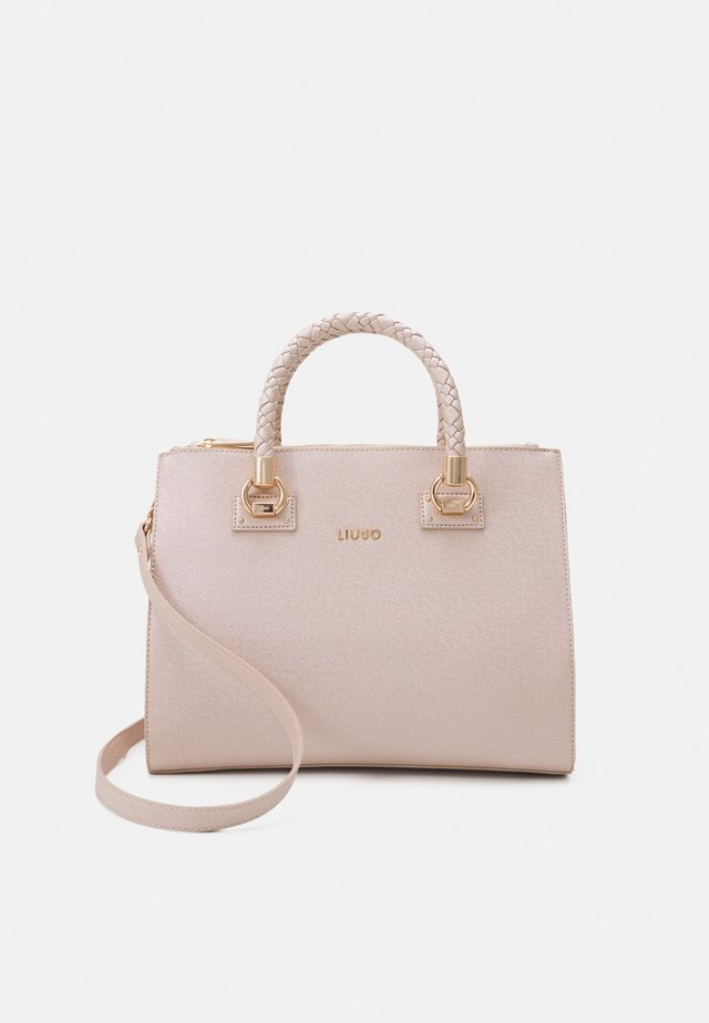 SATCHEL DOUBLE ZIP - Handväska - light gold