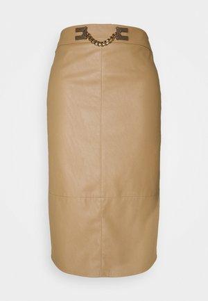 WOMEN'S SKIRT - Spódnica ołówkowa  - tortora