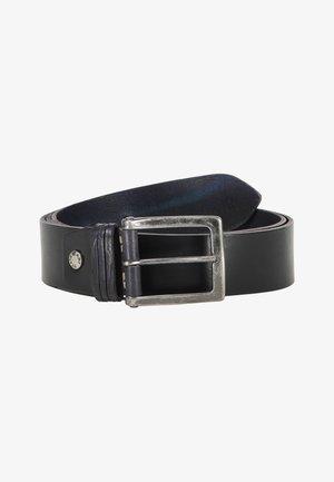 Belt - dark blue plain
