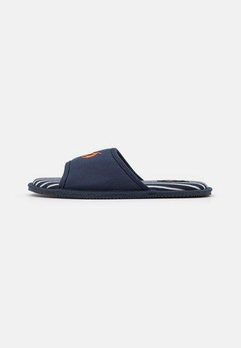 ANTERO - Pantuflas - navy/orange