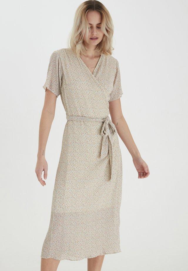 Korte jurk - buttercream printed