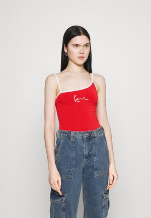 SMALL SIGNATURE ASYMMETRIC - Top - red