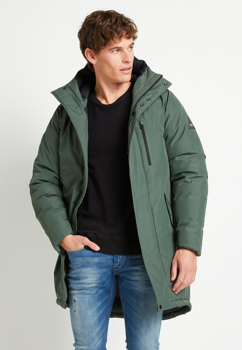 Denham - AVENUE - Winter coat - climbing ivy green