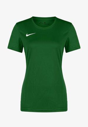 DRY PARK VII - Basic T-shirt - pine green / white