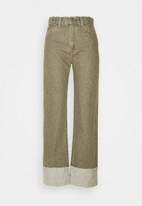 LONG COLUMN - Relaxed fit jeans - light moss