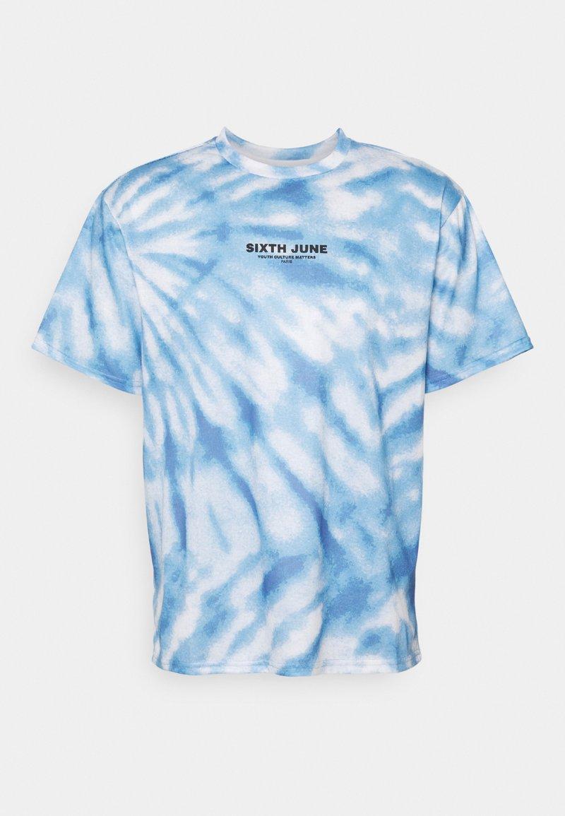 Sixth June - TIE DYE TEE - Camiseta estampada - blue