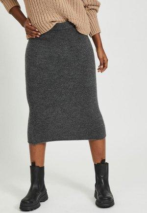 Pencil skirt - dark grey melange