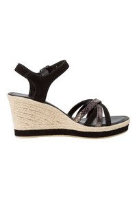 Marco Tozzi - Wedge sandals - black comb - 4