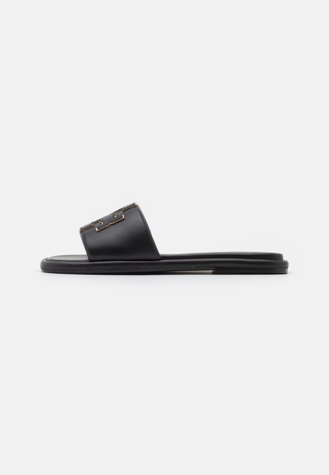 DOUBLE T SPORT SLIDE - Mules - perfect black/gold