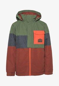 Protest - SNOWJACKET - Snowboard jacket - mottled dark green/brown/orange - 0