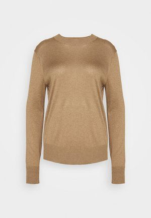 EASY CREW SOLIDS - Strikkegenser - camel