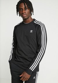 adidas Originals - 3 STRIPES UNISEX - Långärmad tröja - black - 0