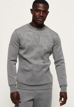 MIT RUNDHALSAUSSCHNITT - Sweatshirt - grey