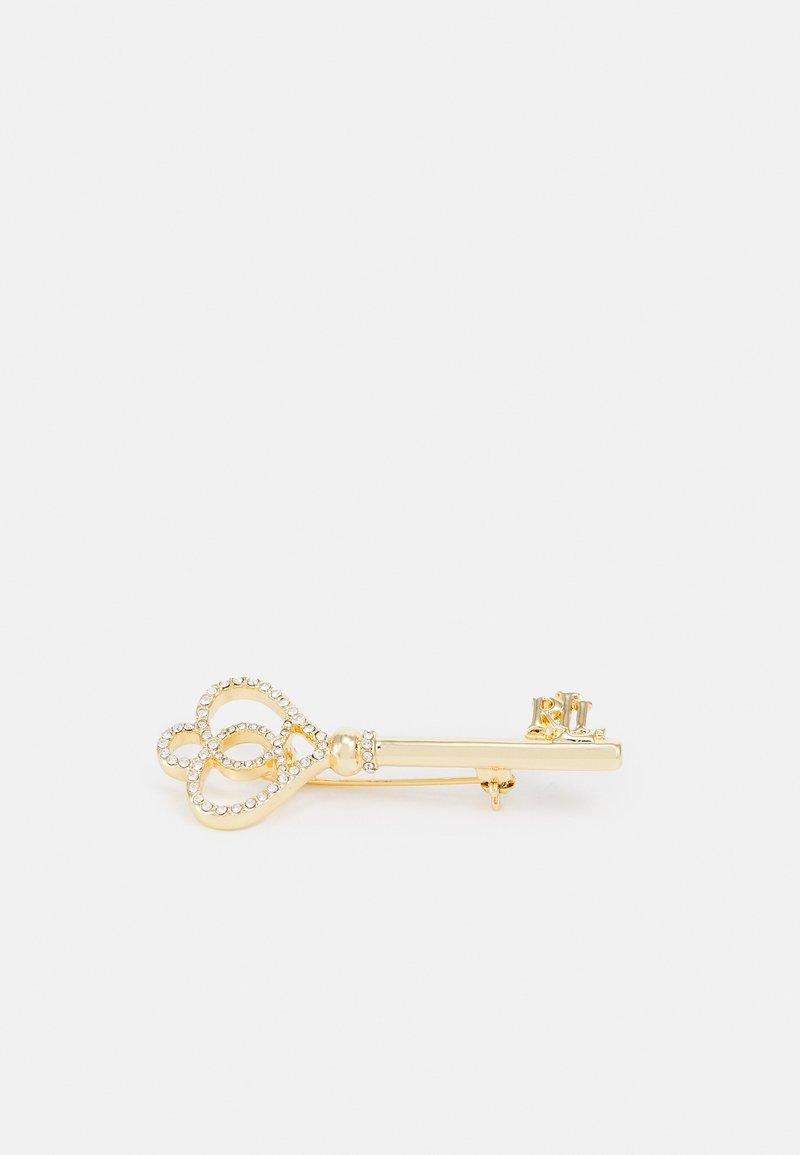 Lauren Ralph Lauren - BOX PIN LOGO KEY - Brooch - gold-coloured