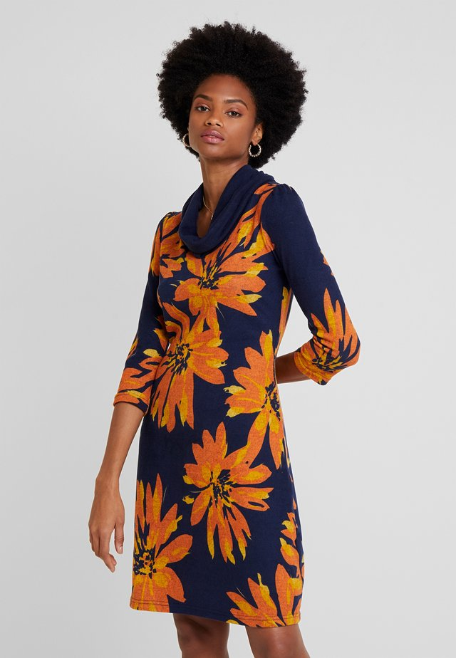 Day dress - orange/blue