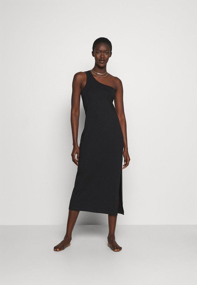 BEACH EDIT ONE SHOULDER MIDI - Jersey dress - black