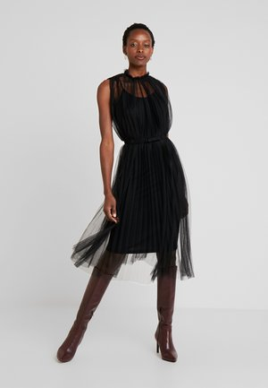 DRESS WITH BELT - Vestito elegante - black