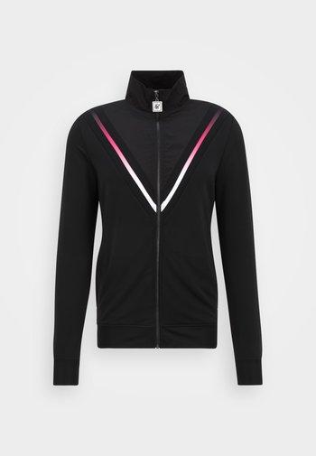 QUARTER ZIP FUNCTION FADE FUNNEL NECK - Training jacket - black