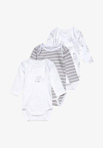 NBNBODY ALLOY BABY 3 PACK - Body - white/grey
