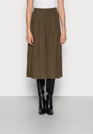 UMA SKIRT - Pleated skirt - dark olive