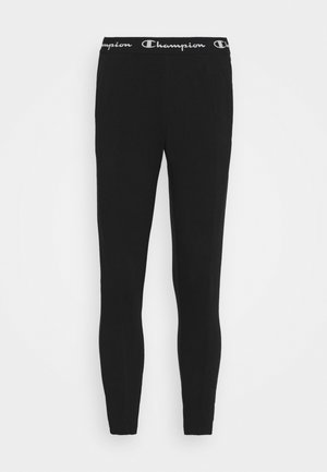 SLIM PANTS - Verryttelyhousut - black
