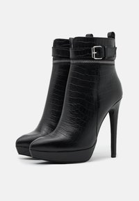 Even&Odd - LEATHER - High heeled ankle boots - black - 2