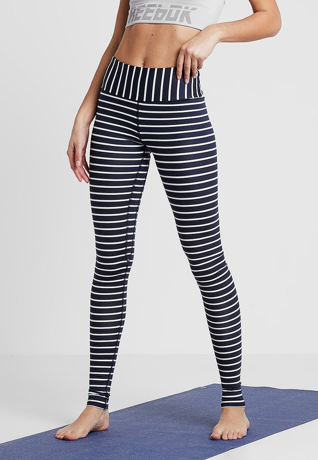 LEGGINGS BARRE STRIPES - Trikoot - dark blue