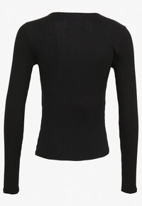 Nly by Nelly - FRONT BUTTON TOP - Cardigan - black - 1