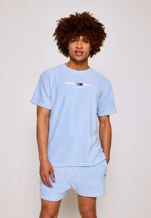 TOWELING TEE - T-shirt con stampa - light powdery blue