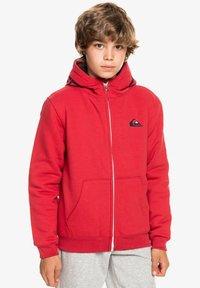Quiksilver - BEST WAVE YOUTH - Zip-up sweatshirt - american red - 1