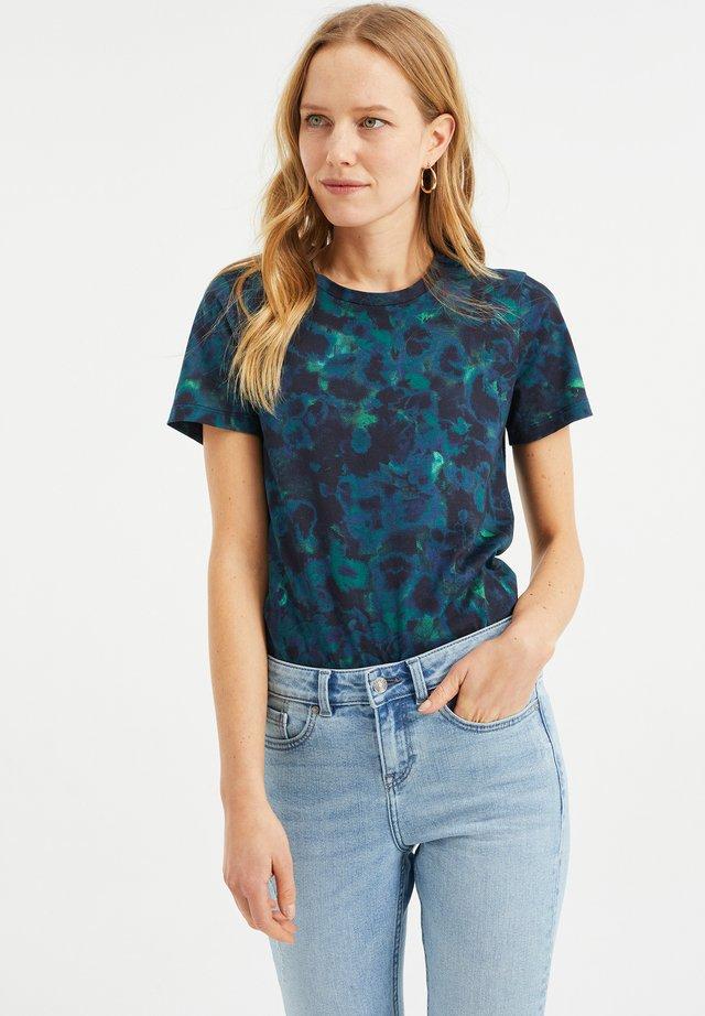 MET DESSIN - T-shirt imprimé - blue