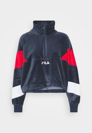 BELLINI CROPPED HALF ZIP - Sweater - black iris/true red/bright white