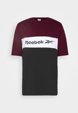 LINEAR TEE - T-shirt z nadrukiem - maroon