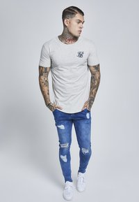 SIKSILK - GYM TEE - T-shirt basic - snow marl - 1