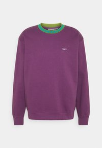 Obey Clothing - JACQUARD CREW - Sweatshirt - purple nitro - 0
