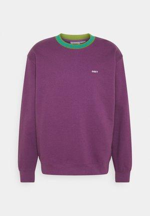 JACQUARD CREW - Sweatshirt - purple nitro