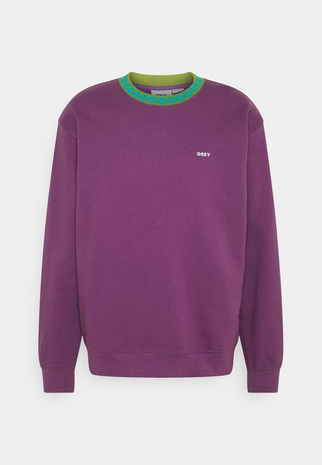 JACQUARD CREW - Sweater - purple nitro