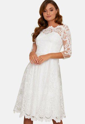 BRIDAL MIDI  - Cocktail dress / Party dress - white