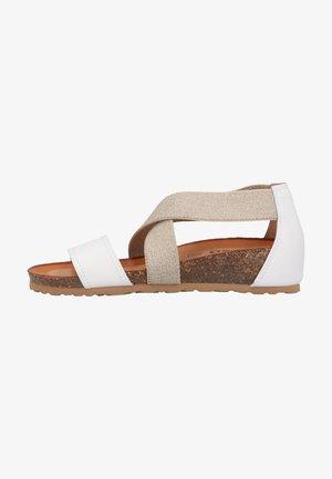 Sandaletter med kilklack - bianco