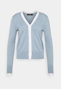 Lauren Ralph Lauren - CARDI - Cardigan - dust blue/white - 0