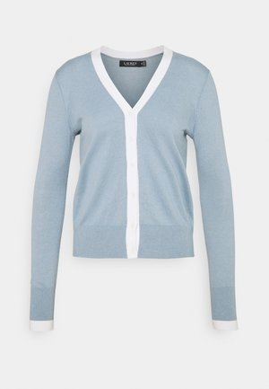 CARDI - Gilet - dust blue/white